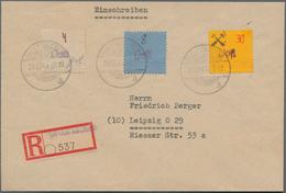 """Deutsche Lokalausgaben Ab 1945: GROSSRäSCHEN, 1945. 30 Pfg. Mit Violettem Handstempel """"Post"""" Statt R - Duitsland"""