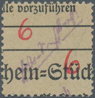 Deutsche Lokalausgaben Ab 1945: GROSSRÄSCHEN, Vorläufer 6 Pfg. Auf Zollformular Statt Auf Dem Uhrzei - Duitsland