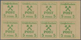 Deutsche Lokalausgaben Ab 1945: GROSSRÄSCHEN, 1945: Freimarken 6 Pf Blau Mit ABART Druck 5Pf Auf Gum - Duitsland