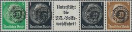 Deutsche Lokalausgaben Ab 1945: LÖBAU, Einheitgeberstreifen 5+1+A 8b+1 + 3 Pfg. MIT ORIGINAL-AUFDRUC - Duitsland