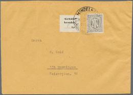 """Deutsche Lokalausgaben Ab 1945: MINDELHEIM, 1945, Gebührenzettel Mit Handschriftl. Wertangabe """"8"""" Rp - Duitsland"""
