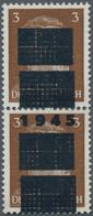 Deutsche Lokalausgaben Ab 1945: NETZSCHKAU-REICHENBACH, 1945. 3 Pfg. Mit Doppelaufdruck Als Dekorati - Duitsland