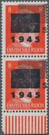 Deutsche Lokalausgaben Ab 1945: NETSCHKAU-REICHENBACH: 1945, 8 Pfg. Mit Deutlichem DOPPELAUFDRUCK De - Duitsland