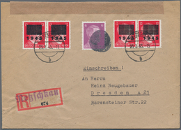 Deutsche Lokalausgaben Ab 1945: NETZSCHKAU-REICHENBACH, 1945: Überdruckmarken 12 Pf Type II B Und Ty - Duitsland