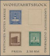 Deutsche Lokalausgaben Ab 1945: OLDENBURG: 1948, Landeshilfe-Block Geschnitten, Private Ausgabe, Zwe - Duitsland