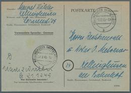 Alliierte Besetzung - Behelfsausgaben: Britische Zone: 1945, Postkarte 6 Rpf Schwarz Auf Grün, Ausga - Amerikaanse-en Britse Zone