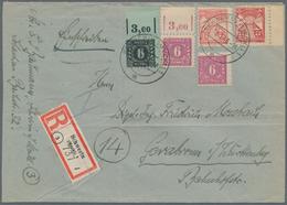 Sowjetische Zone - Mecklenburg-Vorpommern: 1945, 6 Pf Schwarz/hellbläulichgrün Vom OR, 2x 6 Pf Dunke - Sovjetzone