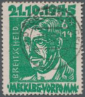Sowjetische Zone - Mecklenburg-Vorpommern: 1945, 6 + 14 Pf. Breitscheid Schwärzlichgelbsmaragdgrün, - Sovjetzone
