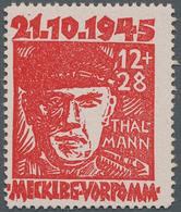 Sowjetische Zone - Mecklenburg-Vorpommern: 1945, 12+28 Pf. Thälmann, Tadellos Postfrisch In Der Farb - Sovjetzone