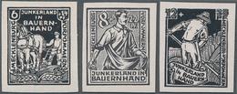 Sowjetische Zone - Mecklenburg-Vorpommern: 1945, Bodenreform, Alle Drei Werte Je Als Geschnittener V - Sovjetzone