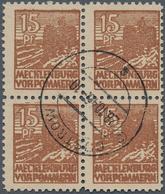Sowjetische Zone - Mecklenburg-Vorpommern: 1946. 15 Pf, Dünnes, Glattes Papier In Fast Zentrisch Ges - Sovjetzone