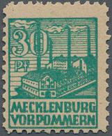 Sowjetische Zone - Mecklenburg-Vorpommern: 1946, 30 Pf Dunkelopalgrün, Tadellos Postfrisch, Fotoatte - Sovjetzone