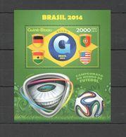 ST1085 2014 GUINE GUINEA-BISSAU SPORT FOOTBALL WORLD CUP BRAZIL GROUP G BL MNH - 2014 – Brasile