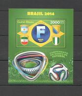 ST1086 2014 GUINE GUINEA-BISSAU SPORT FOOTBALL WORLD CUP BRAZIL GROUP F BL MNH - 2014 – Brasile