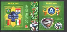 ST1087 2014 GUINE GUINEA-BISSAU SPORT FOOTBALL WORLD CUP BRAZIL GROUP A KB+BL MNH - 2014 – Brasile
