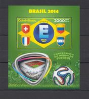 ST1088 2014 GUINE GUINEA-BISSAU SPORT FOOTBALL WORLD CUP BRAZIL GROUP E BL MNH - 2014 – Brasile
