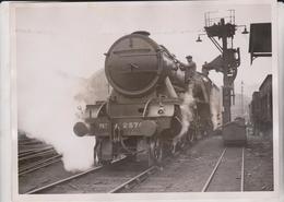 ELECTRIC ELEVATOR COAL KING'S CROSS  SCOTTISH EXPRESS RAILWAY  20*15 CM Fonds Victor FORBIN 1864-1947 - Trenes