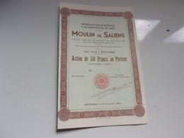 Manufacture D'amiante & De Caoutchouc Du Midi MOULIN DE SALIENS (50 Francs) - Non Classificati