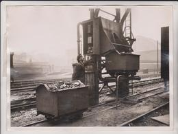 ELECTRIC ELEVATOR COAL KING'S CROSS LONDON  20*15 CM Fonds Victor FORBIN 1864-1947 - Trenes