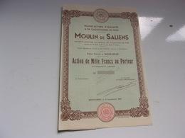 Manufacture D'amiante & De Caoutchouc Du Midi MOULIN DE SALIENS (1000 Francs) - Non Classificati