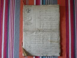 Chateauneuf Haute-Vienne Dépot De Cahier De Charges 30 Janvier 1844 Louis Philippe 1er 42 Pages - Vieux Papiers