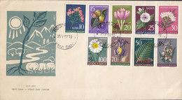 Yugoslavia Ersttags Brief FDC Cover 1957 Flora Complete Set !! - FDC