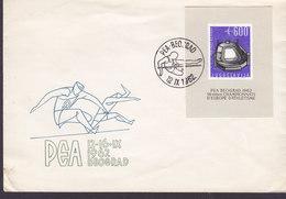 Yugoslavia Ersttags Brief FDC Cover 1962 Block 7 Miniature Sheet Athletic Meisterschaften, Belgrad - FDC