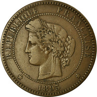 Monnaie, France, Cérès, 10 Centimes, 1895, Paris, TTB, Bronze, Gadoury:265a - France