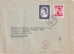 AUTRICHE 1953 LETTRE DE WIEN - 1945-.... 2a Repubblica