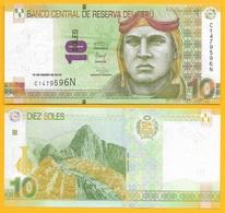 Peru 10 Soles P-192 2016 UNC Banknote - Pérou
