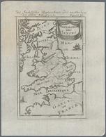 Landkarten Und Stiche: 1686. Heptarchie Des Saxons. Lovely Little Map Of The British Isles From A Ge - Geographie