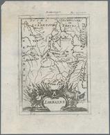 Landkarten Und Stiche: 1686.Lorraine. Lovely Little Map From A German Language Edition Of Alain Mall - Geographie