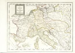 """Landkarten Und Stiche: 1806. """"Das Reich Der Franken Unter Carl Dem Grossen"""". Antique Map (ca. 1806) - Geographie"""