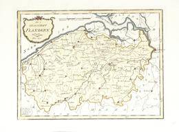 """Landkarten Und Stiche: 1789. """"Die Grafschaft Flandern"""" From """"Schauplatz Der Funf Theile Der Welt"""", F - Geographie"""