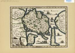 Landkarten Und Stiche: 1734. Map Of Fionia / Funen / Denmark. From The Mercator Atlas Minor Ca 1607, - Geographie