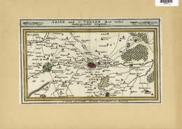 Landkarten Und Stiche: 1720 (ca.): Hand-colored Map Of Arien In The Calais Region Of France By Gabri - Geographie