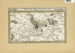 Landkarten Und Stiche: 1720. Hand-colored Map Of St Omer In The Calais Region Of France By Gabriel B - Geographie