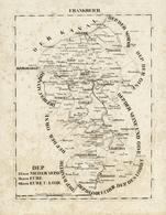 Landkarten Und Stiche: 1829. Dep: 25. Der Niederlande 26. Der Eure 40. Der Eur U:Loire. Copper Engra - Geographie