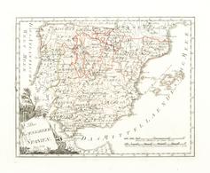 """Landkarten Und Stiche: 1789. """"Des Koenigreich Spanien"""" From """"Schauplatz Der Funf Theile Der Welt"""", F - Geographie"""