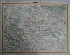 """Landkarten Und Stiche: 1812: """"Theil Des Koenigreich Westphalen Partie Du Royaume De Westphalie"""". Ori - Geographie"""