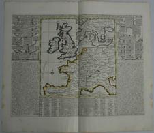 Landkarten Und Stiche: 1720 (ca.): Carte Pour L'Intelligence De L'Histoire D'Angleterre Ou On Remarq - Geographie