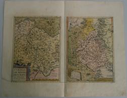 Landkarten Und Stiche: 1584 (ca.). Turingiae Noviss Descript. Per Johannem Mellinger Halens [with] M - Geographie