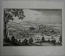 Landkarten Und Stiche: 1645 (ca): Blamont (Belgium), Circa 1645 By Matthias Merian. Clean White Pape - Geographie