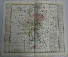 """Landkarten Und Stiche: 1757 (ca.): """"Derer Zu Dem Thuringer Creisse Des Churfuerstenthums Sachsen Geh - Geographie"""
