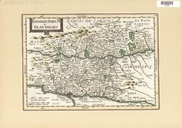Landkarten Und Stiche: 1834. Lionnois Forest Et Beaviolois From The Mercator Atlas Minor Ca 1648, La - Geographie