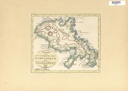Landkarten Und Stiche: 1822. Map Of The Island Of Martinique, By One Fr. Pluth, From Prague In 1822. - Geographie