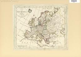 Landkarten Und Stiche: 1797, Map Of Europe By Johann Wallch, Ca 1797. Holes At Left Margin Where The - Geographie