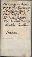 Landkarten Und Stiche: 1750. (ca.) Episcopatus Numburgensis Et Cizensis Delineatio Geographica, Adje - Geographie
