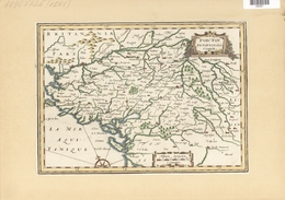 Landkarten Und Stiche: 1734. Poictou Pictaviensis Comit From The Mercator Atlas Minor Ca 1648, Later - Geographie