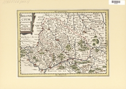 Landkarten Und Stiche: 1734. Belovacium Comitatus. From The Mercator Atlas Minor Ca 1648, Later Alte - Geographie